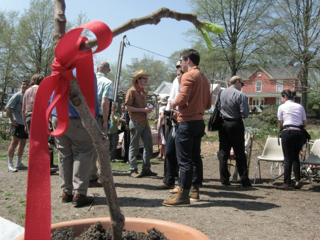Community members gather for the SEEDS renovation groundbreaking. (Photo Credit: Cammie Bellamy)