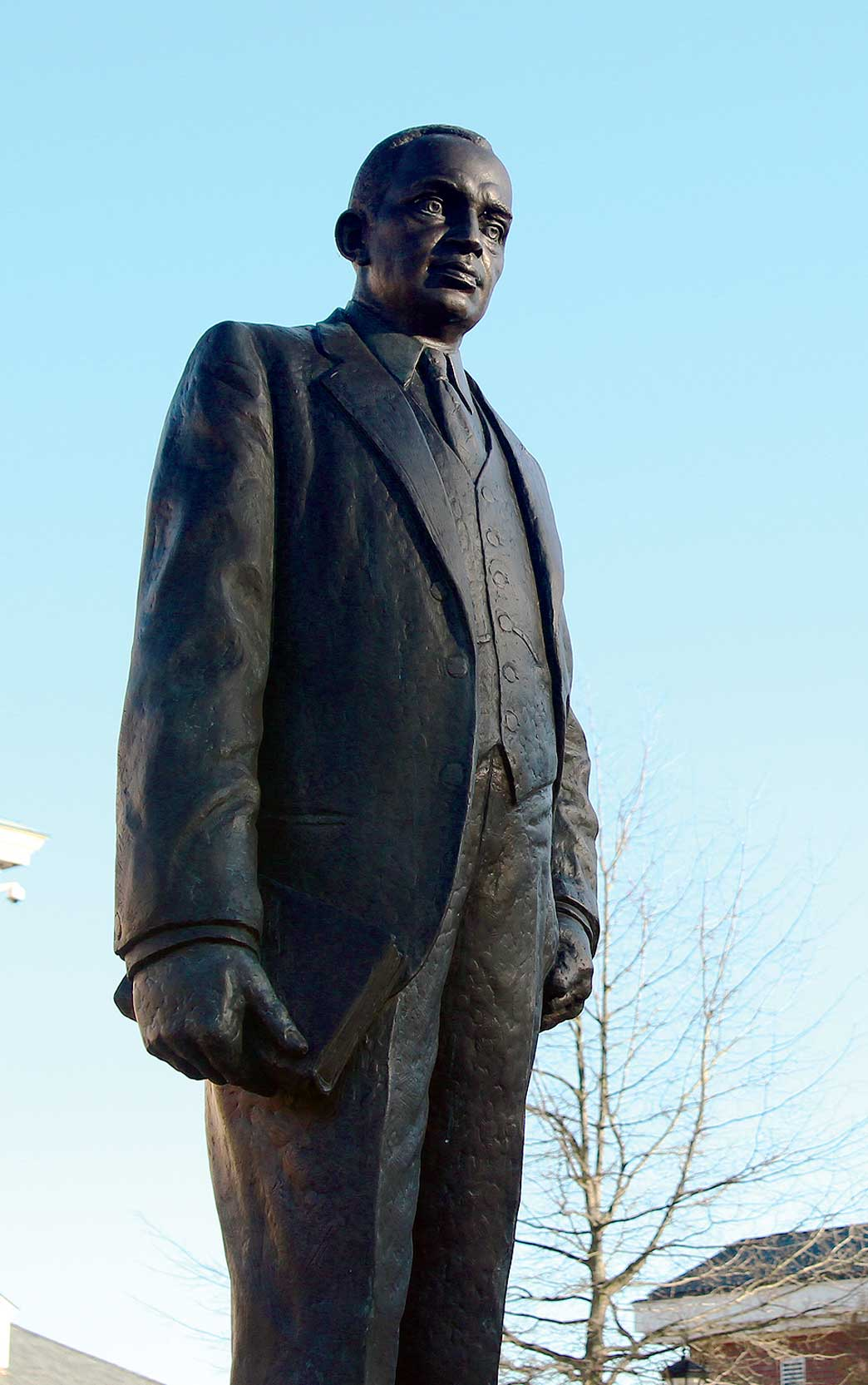 Outside the Hoey Administration Building James E. Shepard's statue keeps watch. Matt Phillips/Echo editor-in-chief