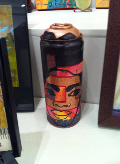 Graffiti artist Niko recycled a used spray can for art. (Staff Photo by Ikendia Dixon)