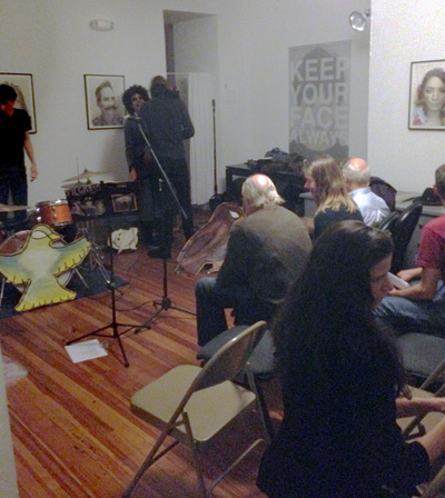 The audience, thoroughly engaged, during Karma Thomas's recent performance at Mercury Studio. (Staff Photo by Antwone Price)