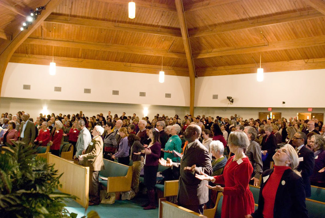 The Faith Summit on Child Poverty in January 2013 attracted the attention of more than 500 people in the community. Photo courtesy of Durham's Partnership for Children