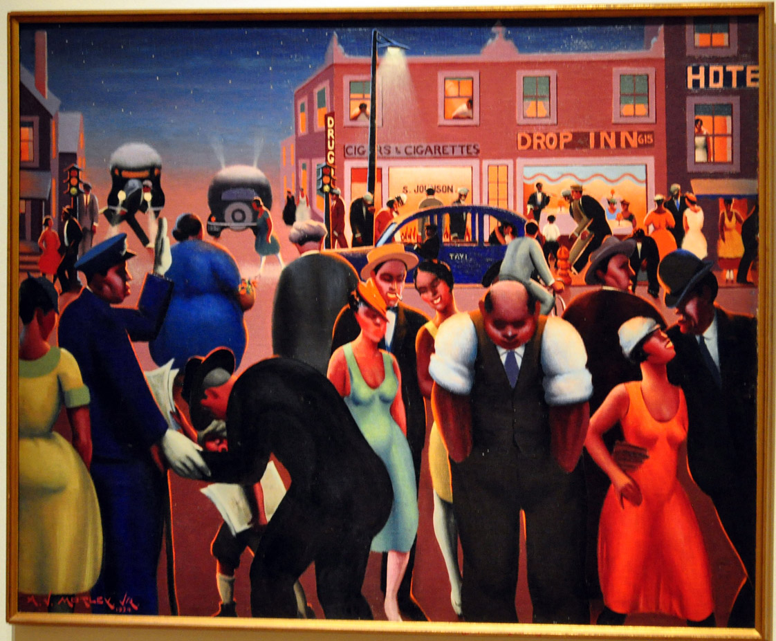 This painting is a good example of Mr. Motley's ability to use color.