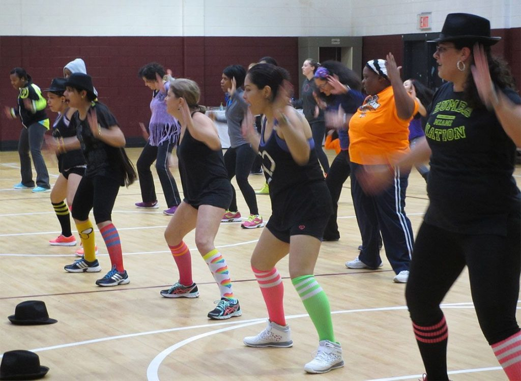 "Zumba instructors, brought together by ""Zumba love"" and a good cause, danced front and center at the first Salvation Army Zumbathon fundraiser."
