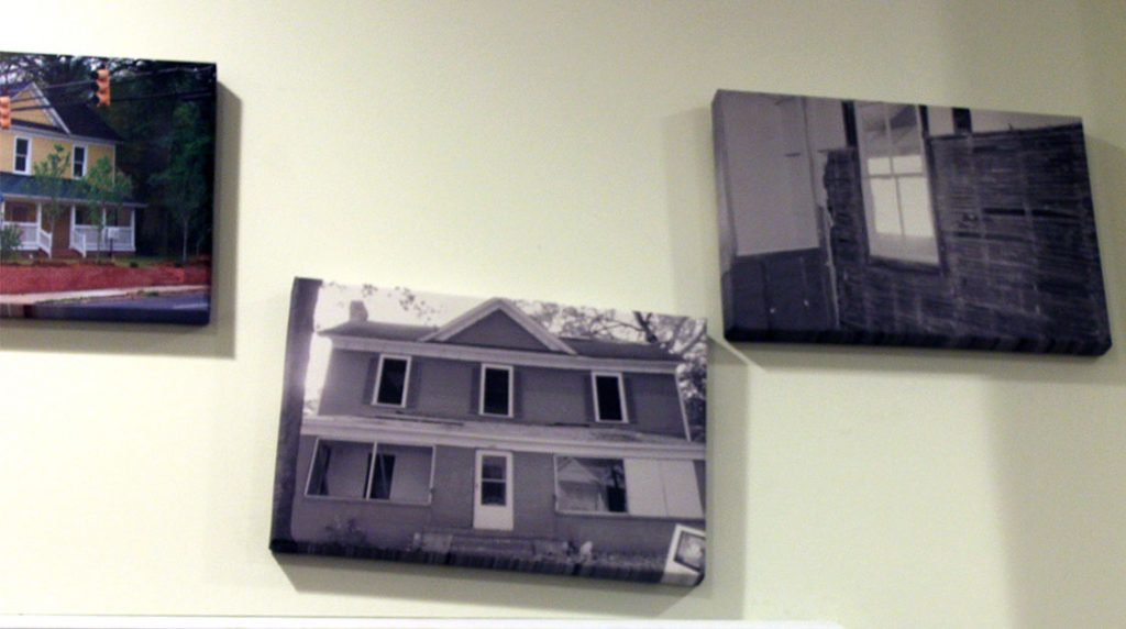 Pictures of the old derelict building before it was restored. (Staff photo by Eric O'Neal)