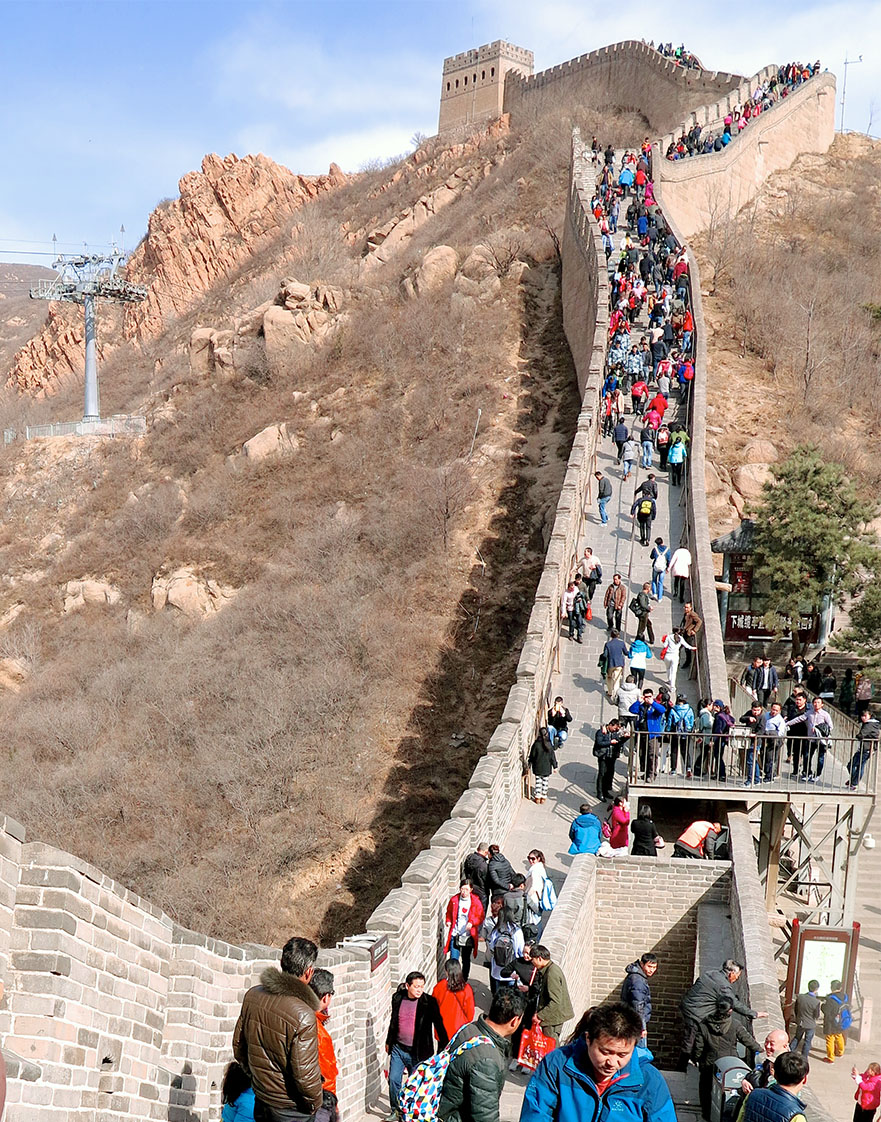 The Great Wall of China. (Staff photo by Jock Lauterer)