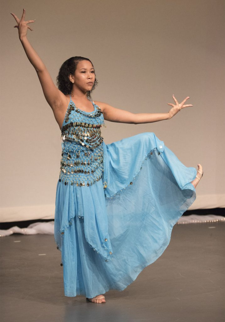 Jade Franco performs the Arabian dance. (Staff photo by Brenna Elmore)