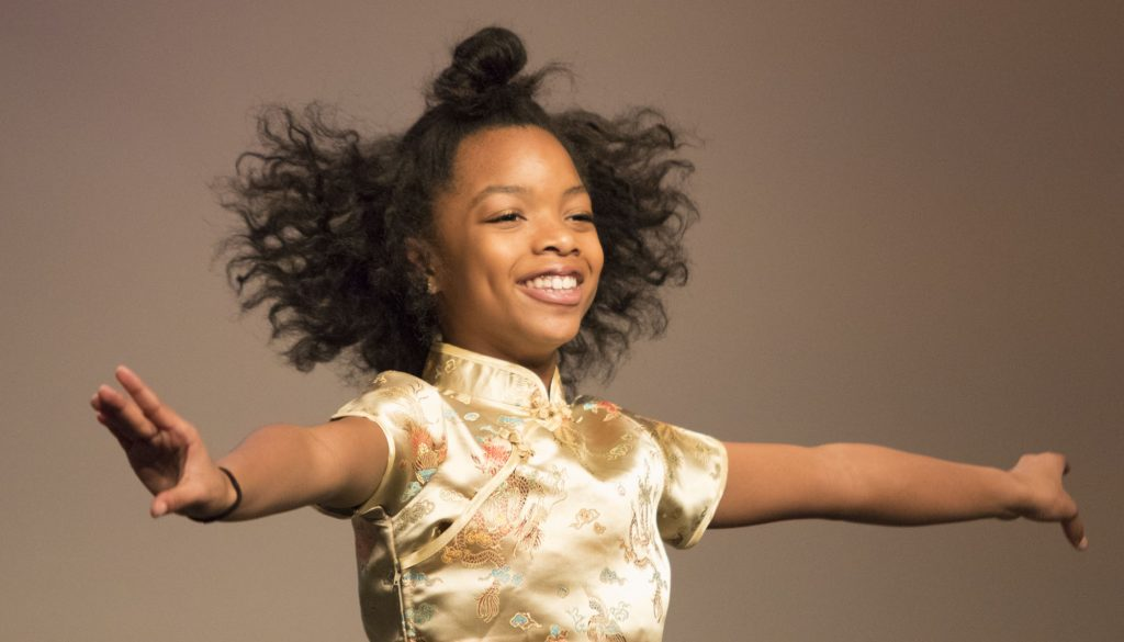 Nia Huell-Griffin dances the Chinese solo in Act Two. (Staff photo by Brenna Elmore)