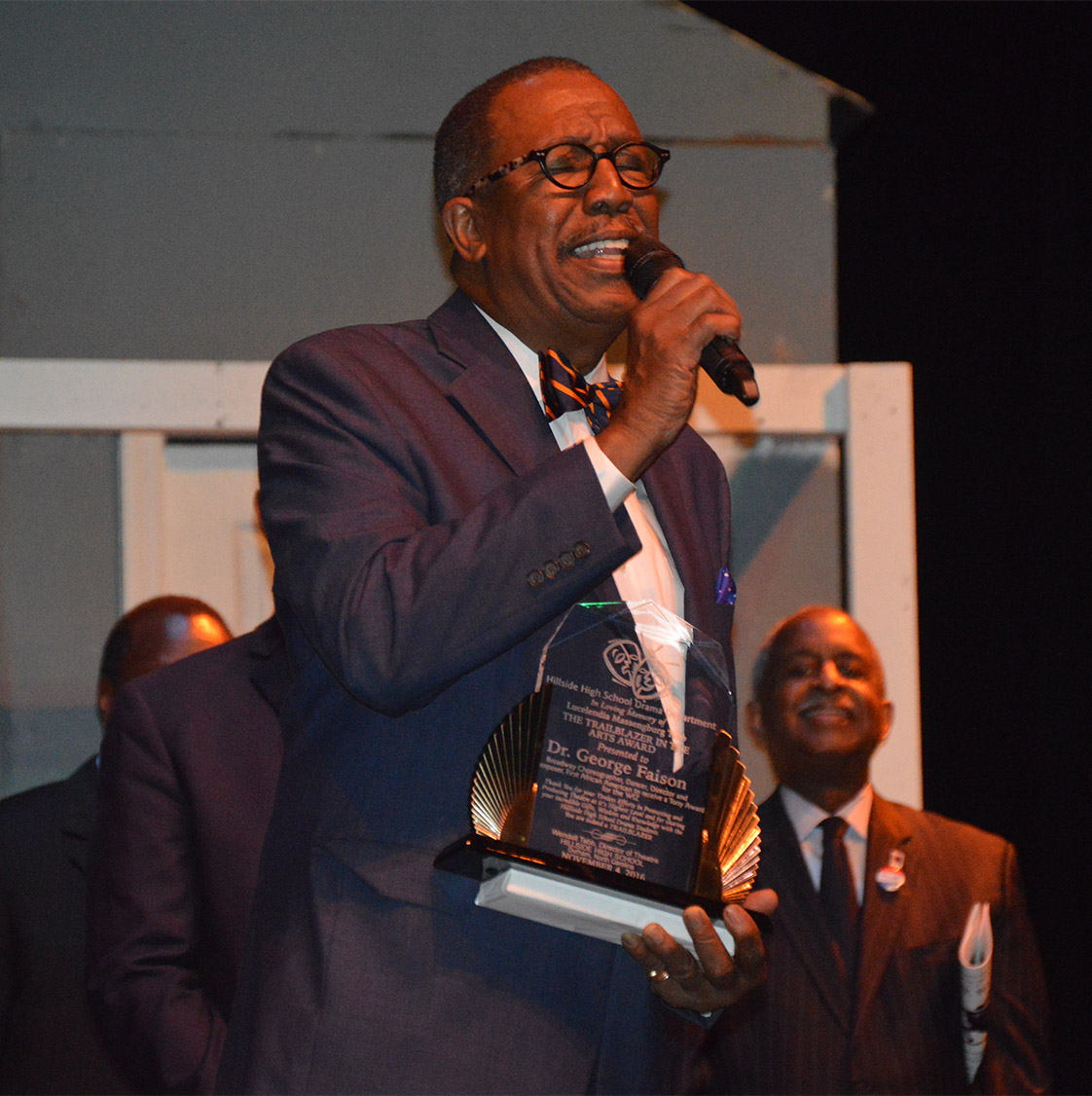 George Faison, the first African American to win a Tony award for choreography in The Wiz in 1975, attended the show and received the Trailblazer in the Arts Award from the Hillside High School Drama Department. (Staff photo by Meredith Wilson)
