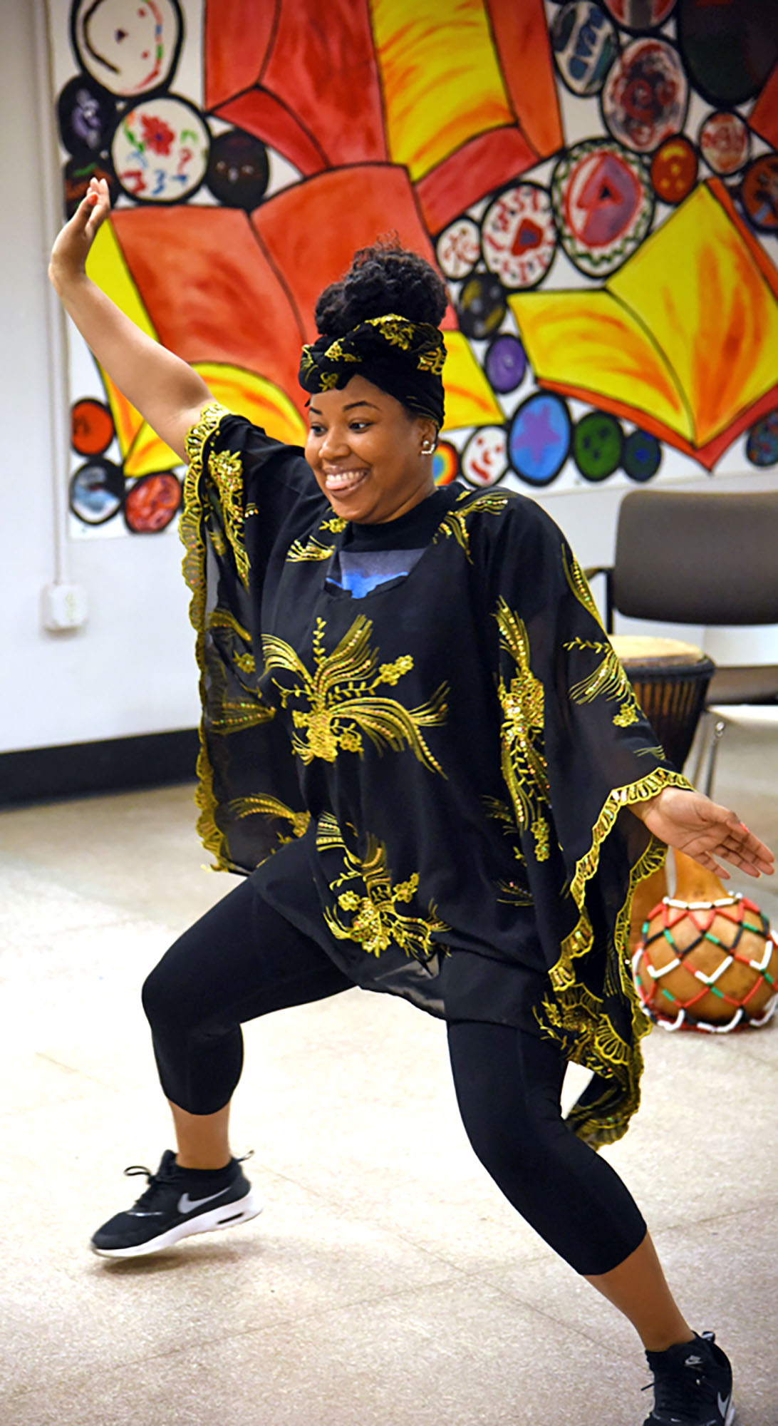 LeBrandi Johnson dancing. (Staff photo by Madison Walls)